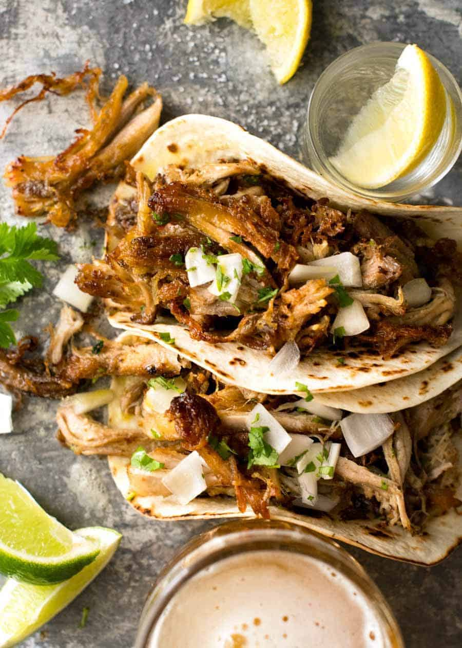 Easy Authentic Mexican Food Recipes: Carnitas (Mexican Slow Cooker Pulled Pork)