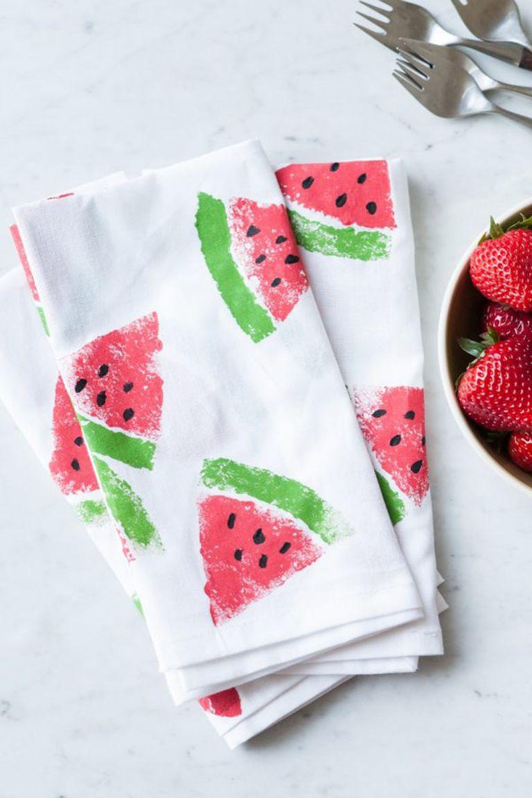 Watermelon Print Napkins