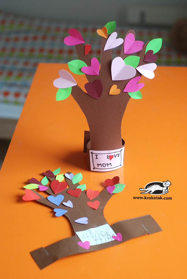 Flowering Tree From A Kid's Hand Craft