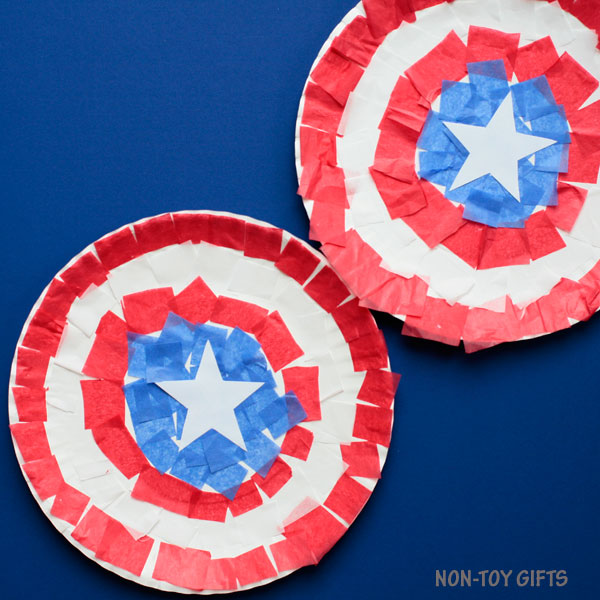 Captain America Shield Craft - 4th Of July Craft