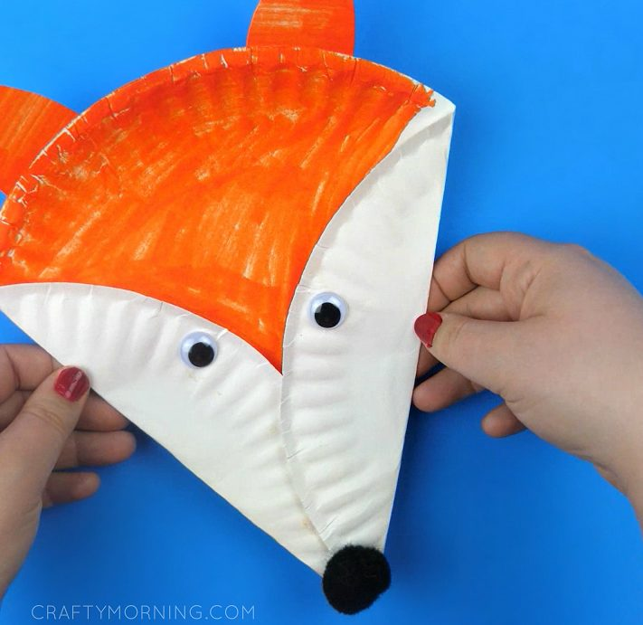 Easy Paper Plate Fox Craft