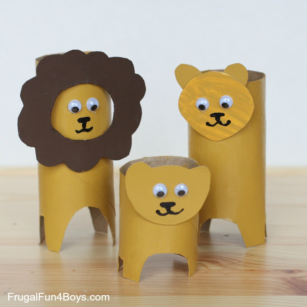 Toilet Paper Roll Lions