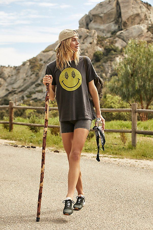 Summer hiking outfit with tee