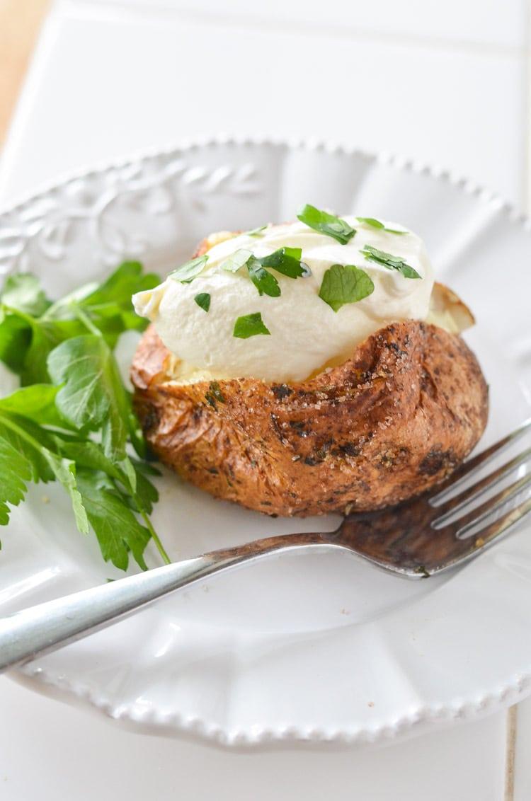 Baked Garlic Parsley Potatoes