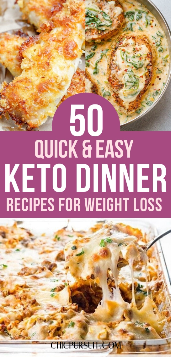 The best quick and easy keto dinner recipes and keto dinner ideas