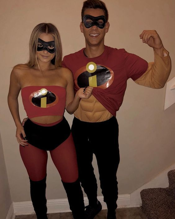 Couples costumes 2020, couples halloween costumes, the Incredibles Halloween costume