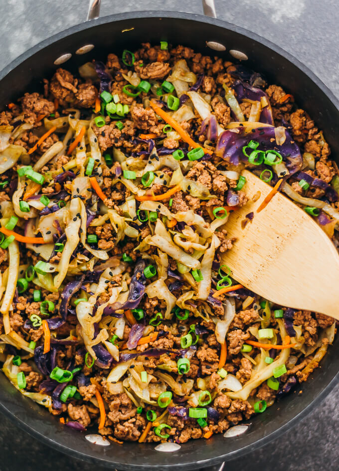Ground Beef and Cabbage Stir-Fry