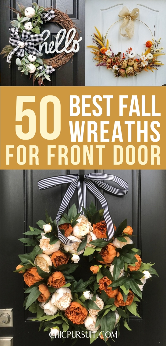 50+ Best Fall Wreaths For Front Door That You'll Love