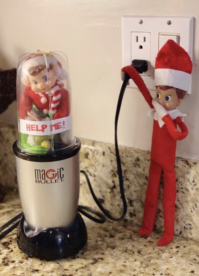 Naughty elf on a shelf pictures in a blender