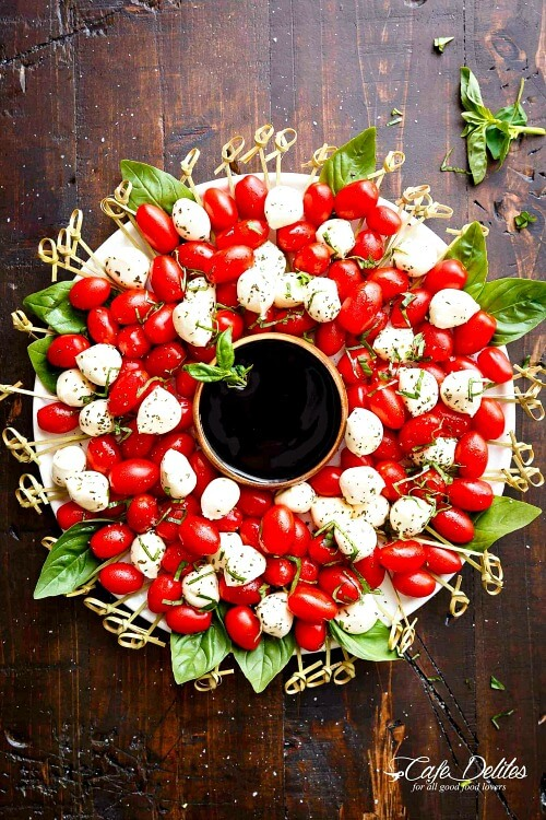 Caprese Christmas Wreath