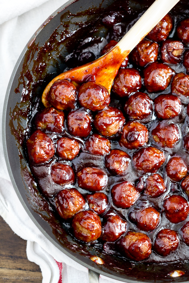 Spicy Cranberry Barbecue Meatballs