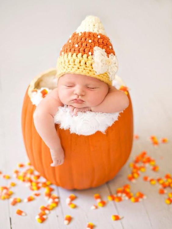 Candycorn baby halloween costumes, newborn halloween costumes