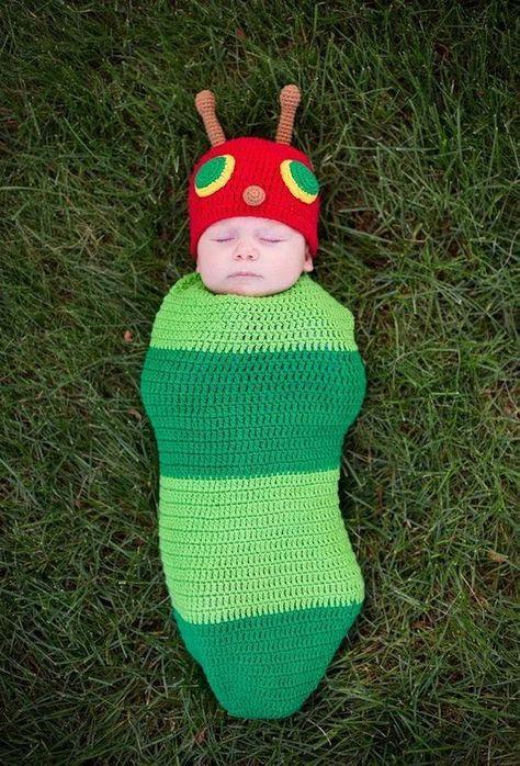 Caterpillar baby halloween costumes, newborn halloween costumes