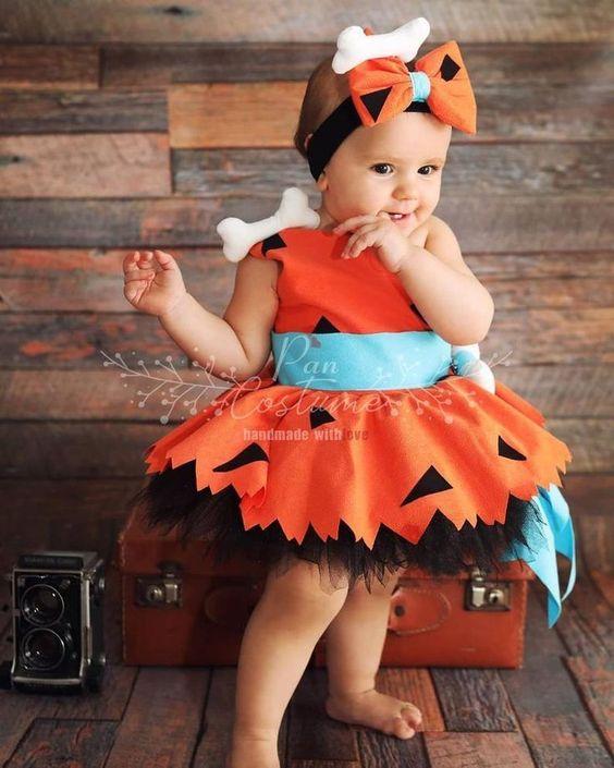 Flintstones baby Halloween costume, baby halloween costumes girl, newborn halloween costumes, baby girl halloween costumes