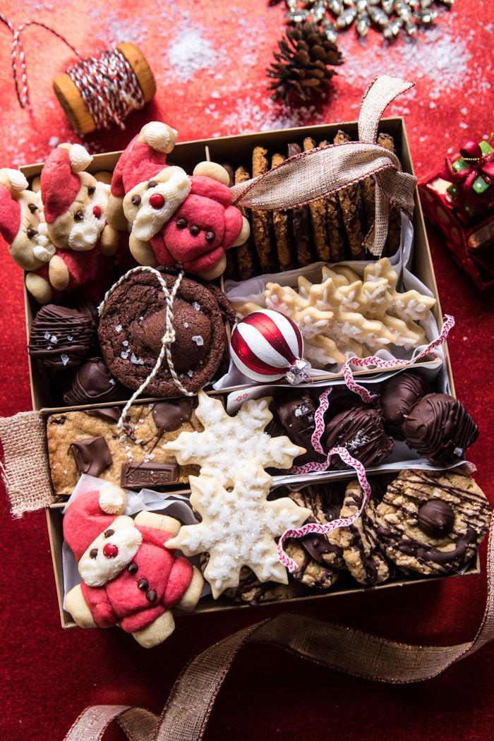 DIY Christmas Cookie Box Gift Basket