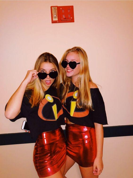 Bff Halloween costumes, cute Halloween costumes, cute BFF costumes, bestie Halloween costumes - Incredibles Halloween costume