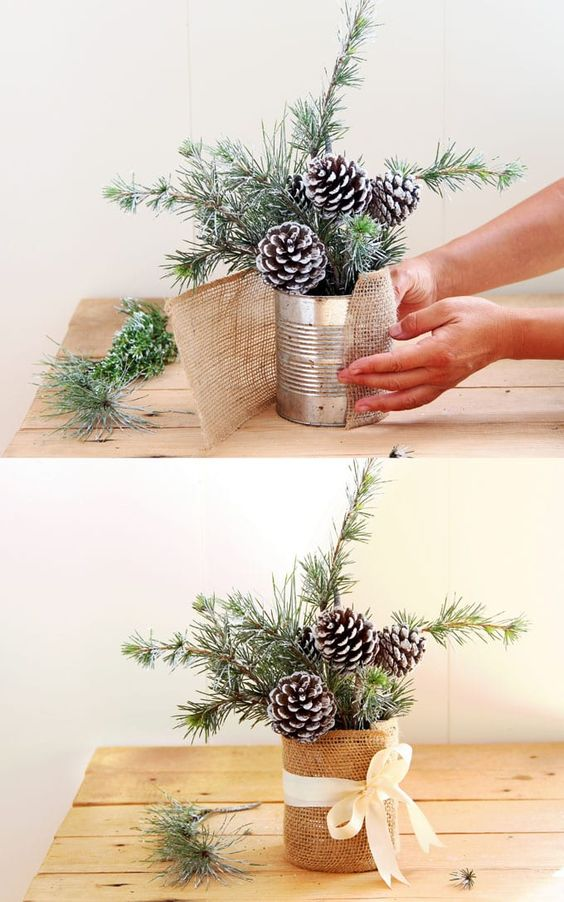 Snowy Tree DIY Table Decoration For Winter And Christmas