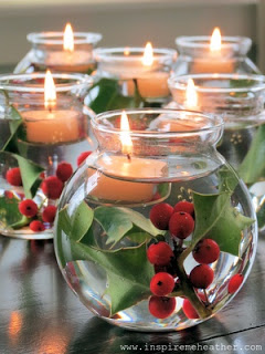 Easy Candle Christmas Centerpiece
