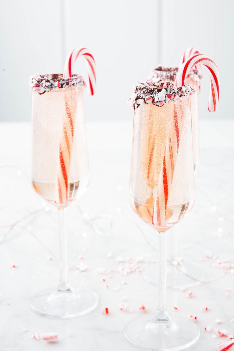 Easy Christmas cocktails: Peppermint Bark Mimosas