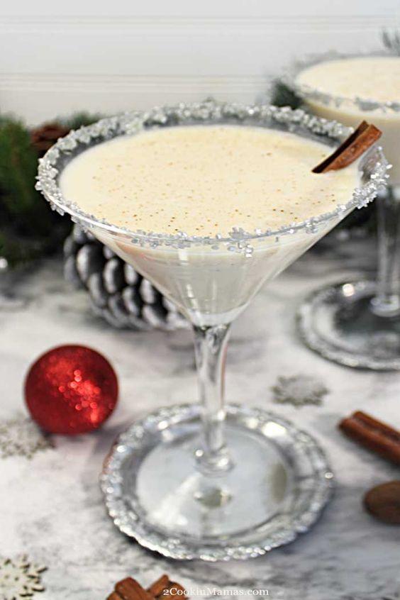 Creamy Eggnog Martini