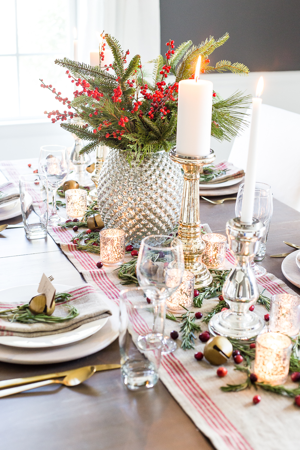 Mercury Glass Elegant Holiday Tablescapes