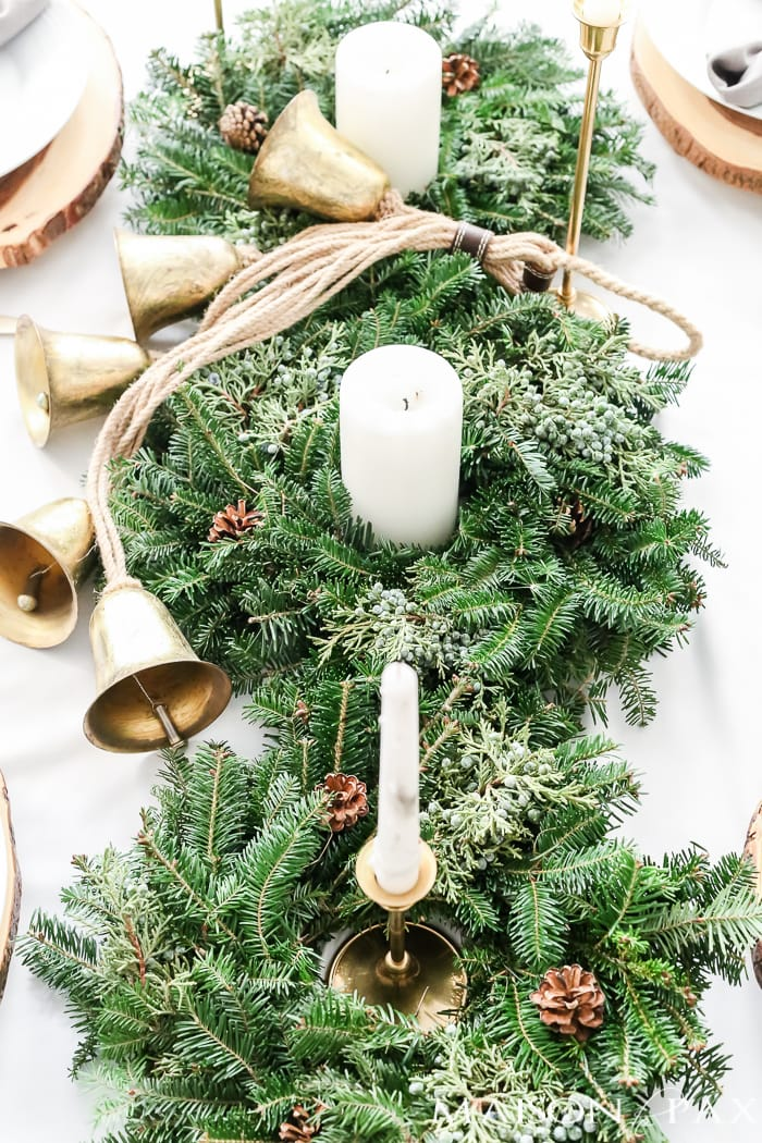 Green & Gold Christmas Tablescapes And Table Settings