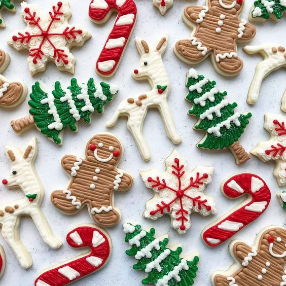 Gingerbread, Candy Canes and Christmas Tree Sugar Cookies
