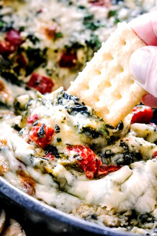 Christmas Spinach Dip With Brie