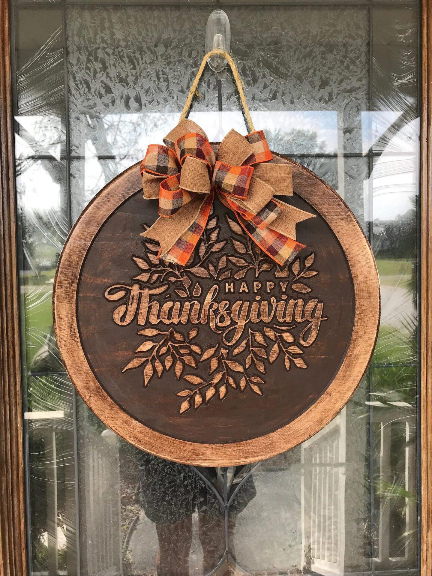 Thanksgiving door hanger