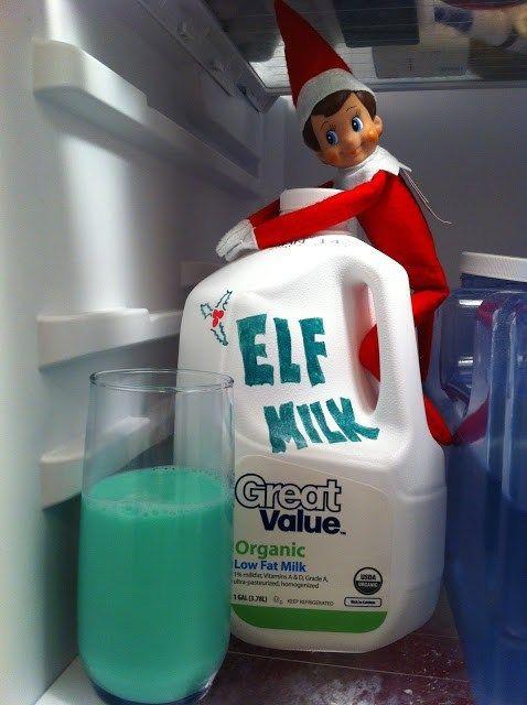 Funny elf on the shelf ideas in the fridge
