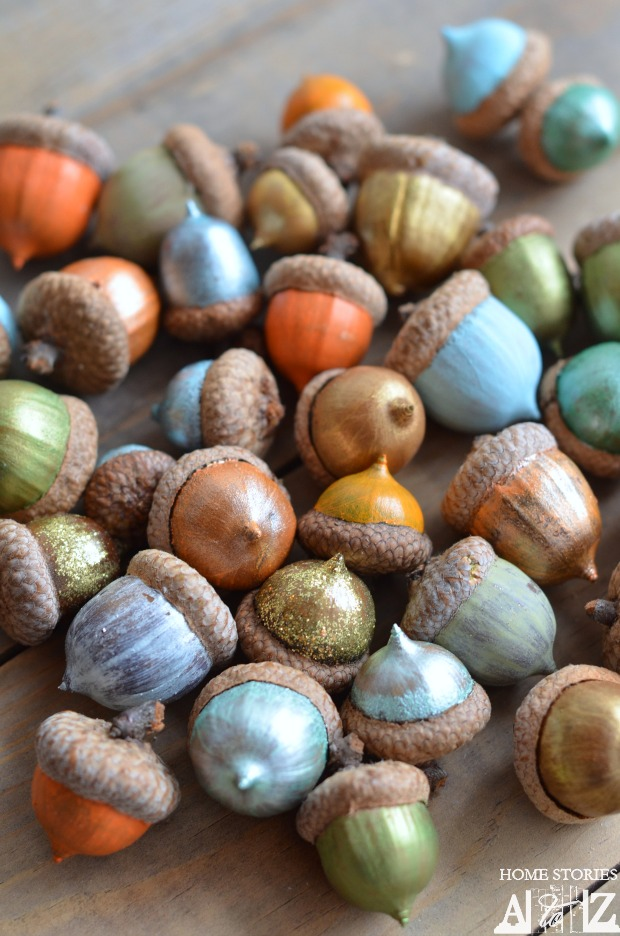 Easy fall crafts for adults: Painted Acorns