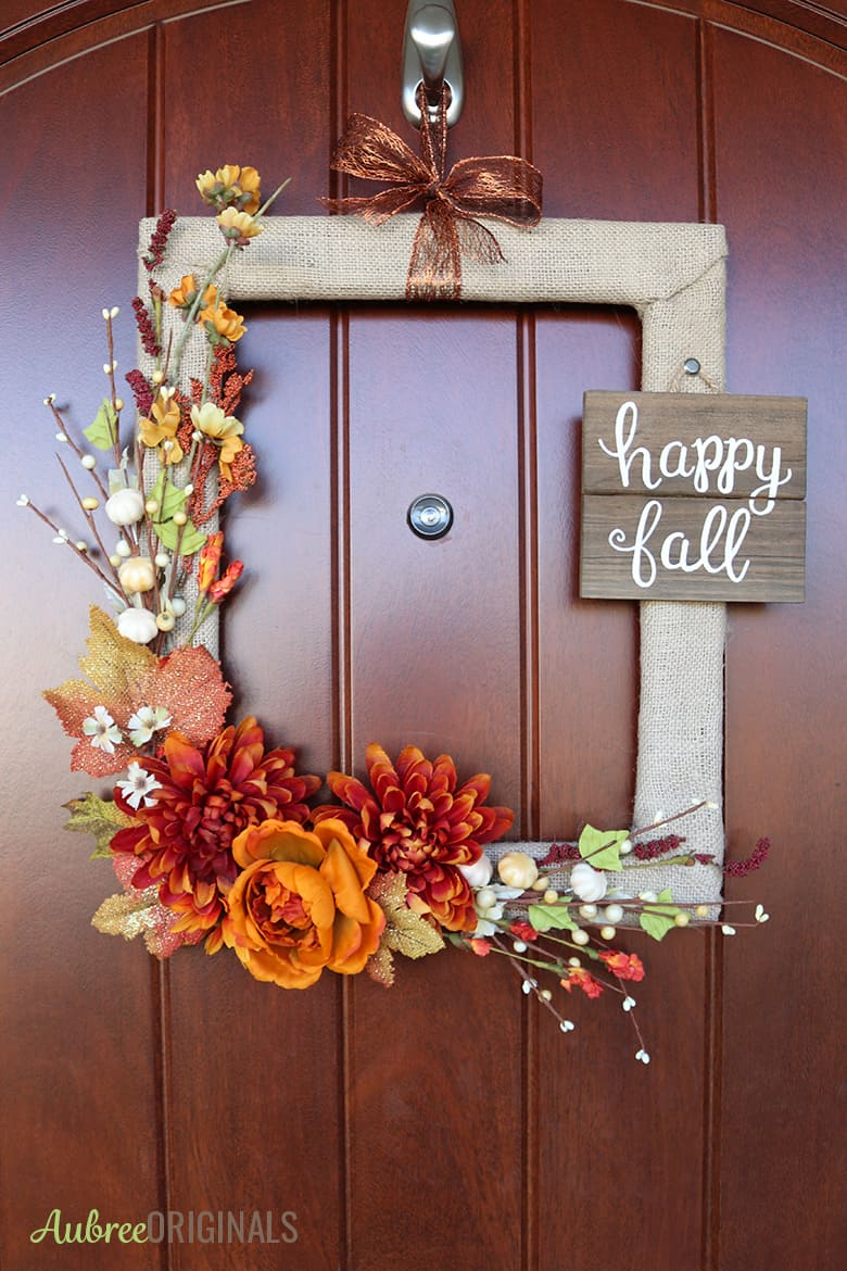 Easy DIY fall crafts for adults: Simple Fall Wreath