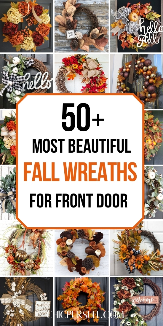 50 Beautiful and best fall wreaths for front door