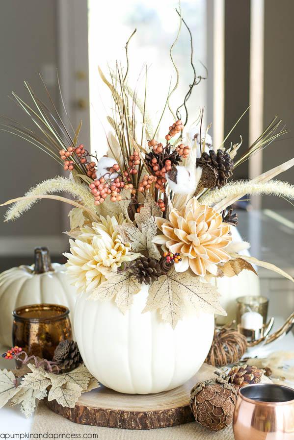 Best fall crafts for adults: DIY Pumpkin Vase