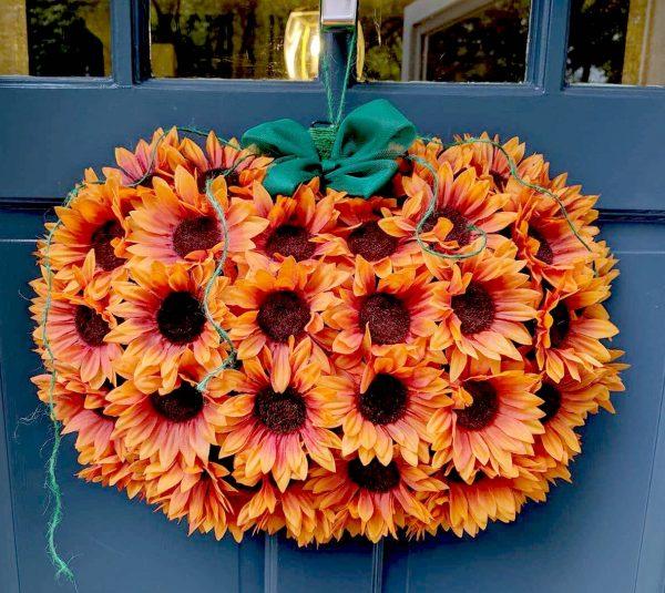 Sunflower Pumpkin Door Wreath