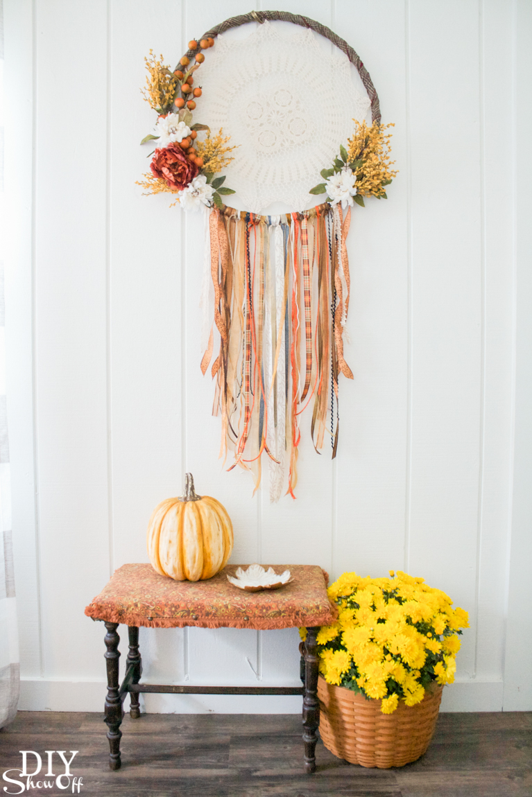 DIY Fall Dream Catcher - easy fall crafts for adults
