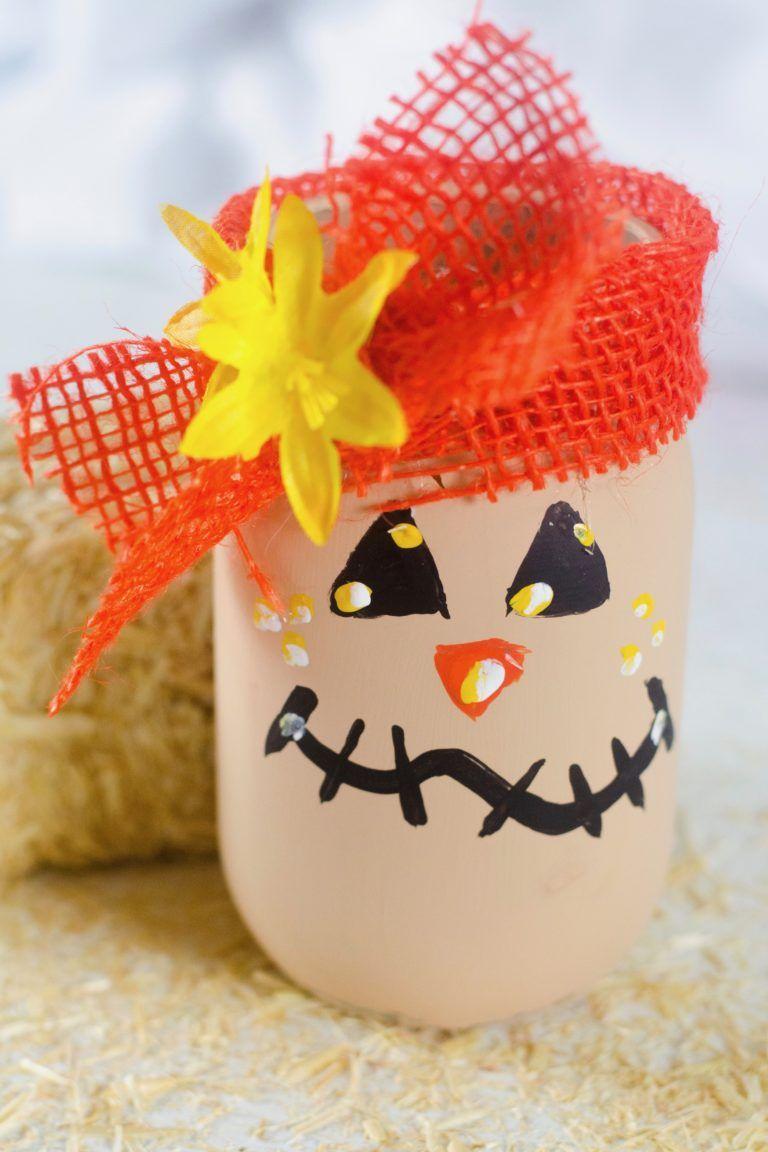 Scarecrow Mason Jar Craft
