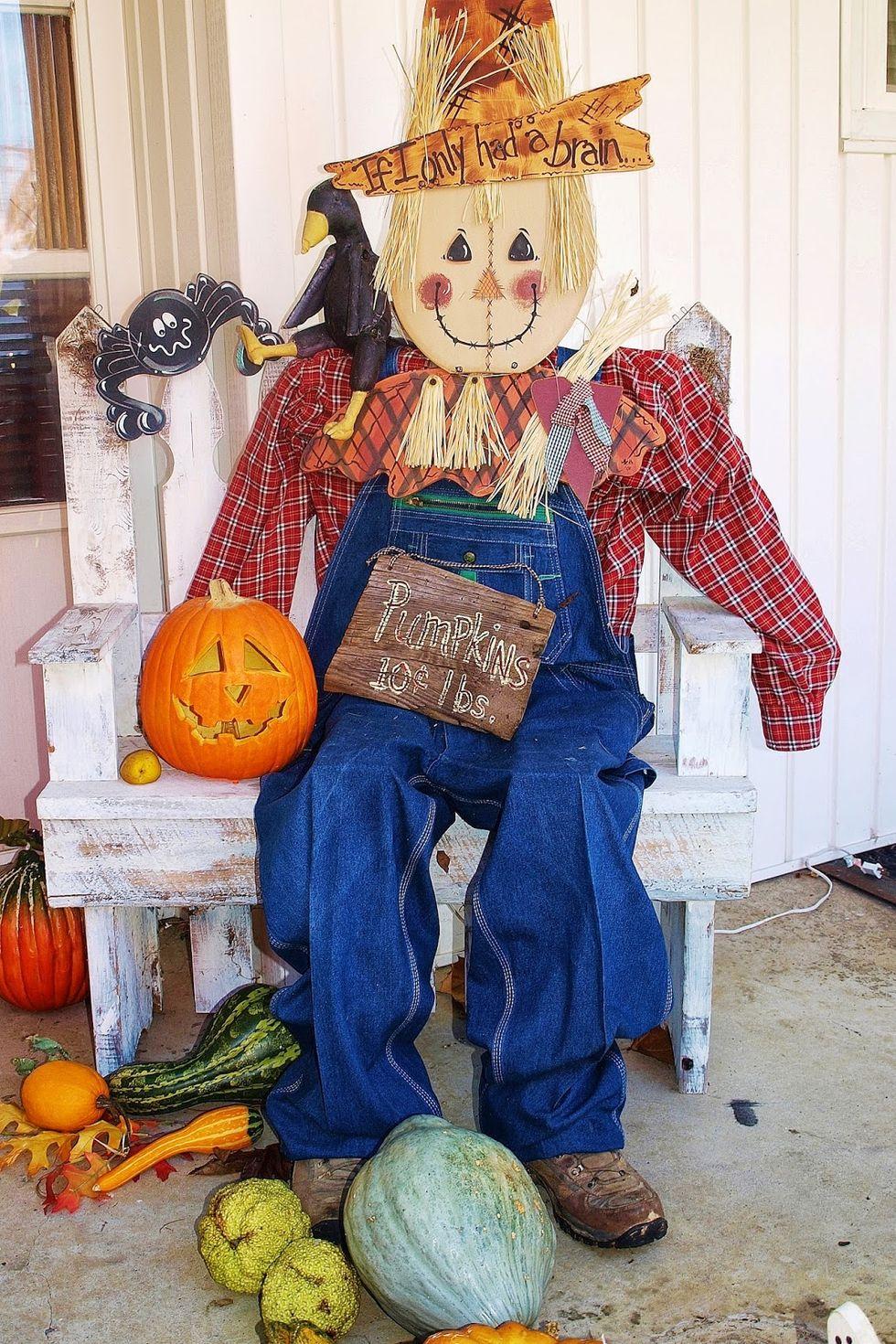 Porch Scarecrow Decor