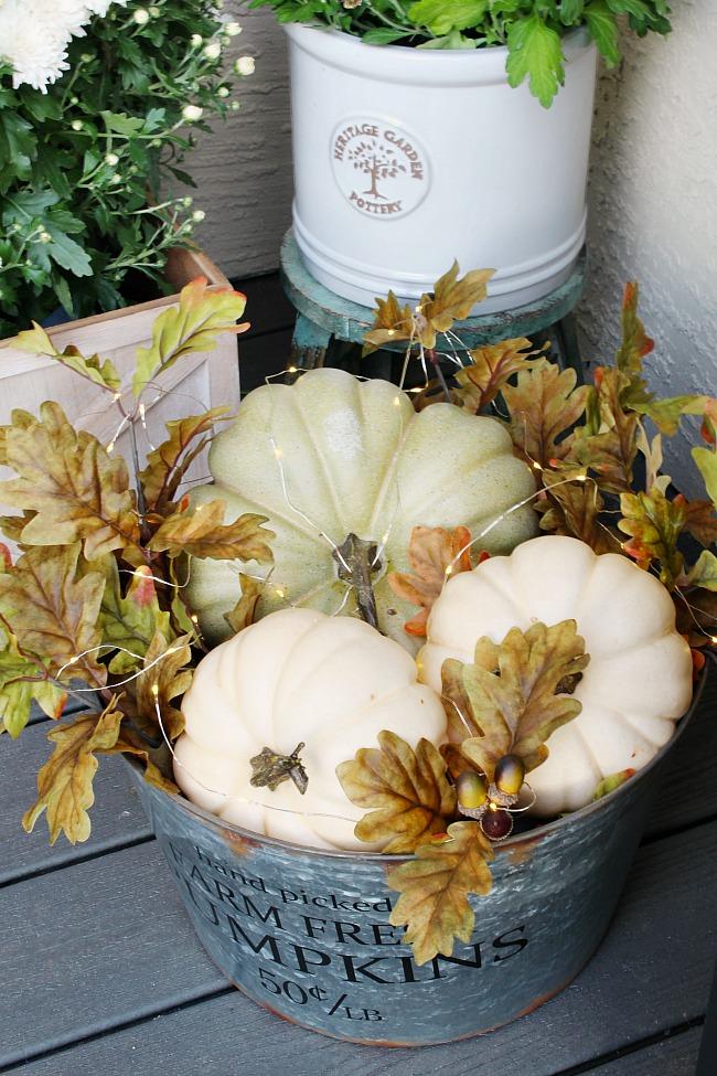 Best fall crafts for adults: Lighted Fall Pumpkin Basket