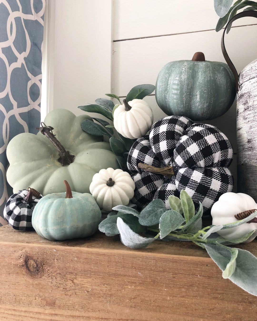 Easy fall crafts for adults: Dollar Tree and Walmart Pumpkins
