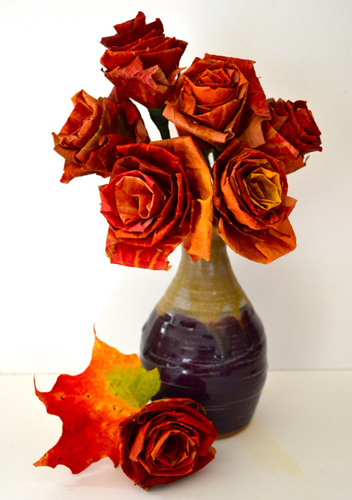 Easy fall crafts for adults: Autumn Leaf Bouquet