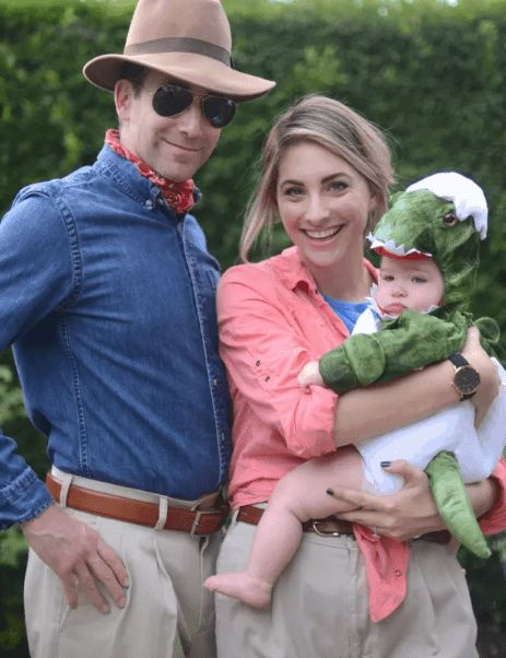 Jurassic Park family halloween costumes with baby