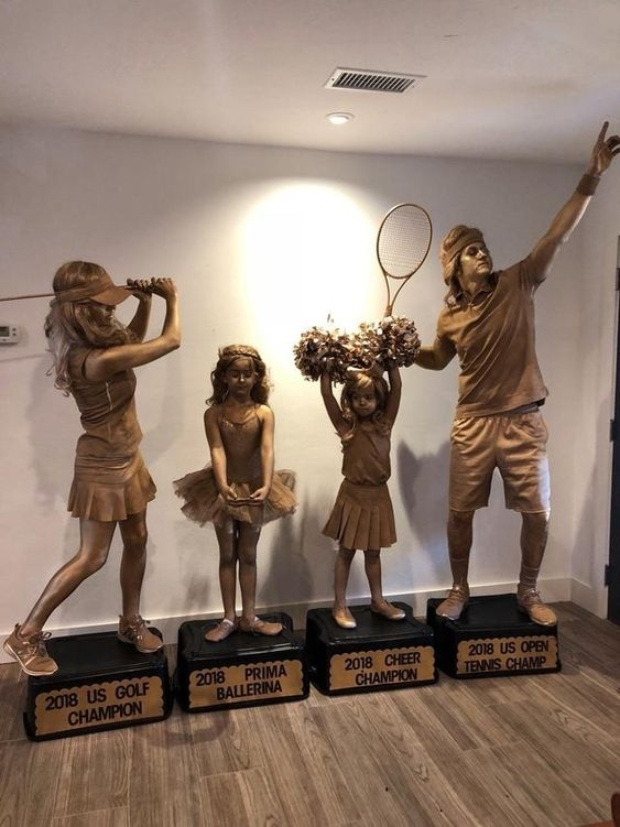 Best family Halloween costumes - sports trophies