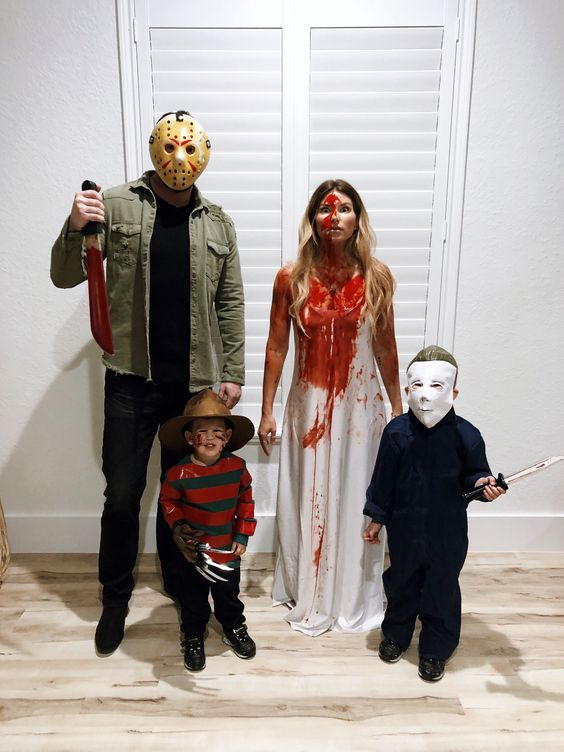 Scary family Halloween costumes - The Purge