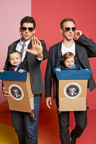Election Halloween costumes with babies