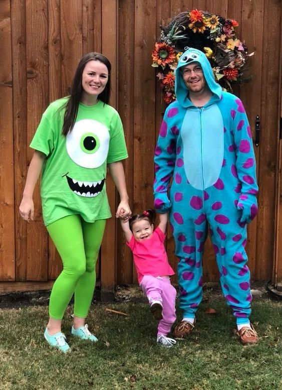 Monsters inc family costume with toddler