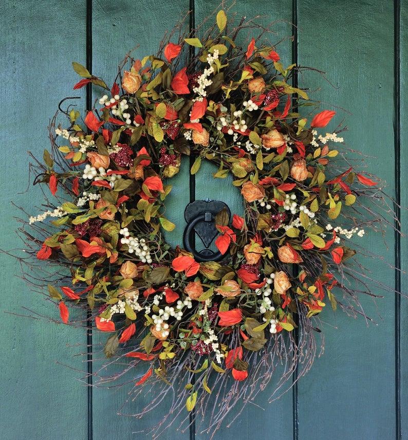 Fall wreaths for front door, best fall wreaths