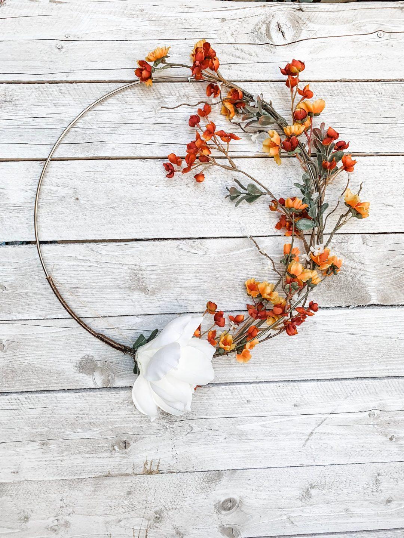 Modern fall wreaths for front door, best fall wreaths