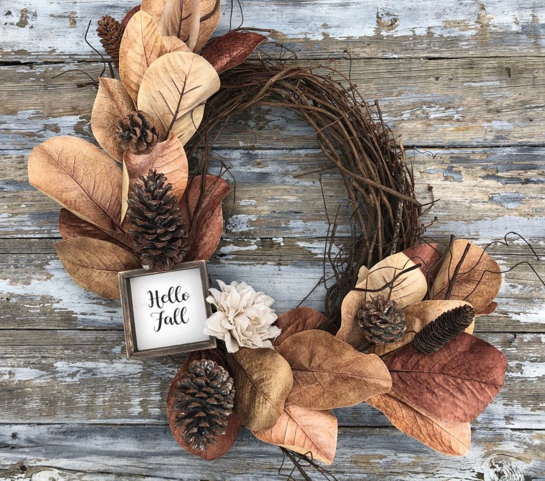 Rustic fall wreaths for front door, farmhouse fall wreaths