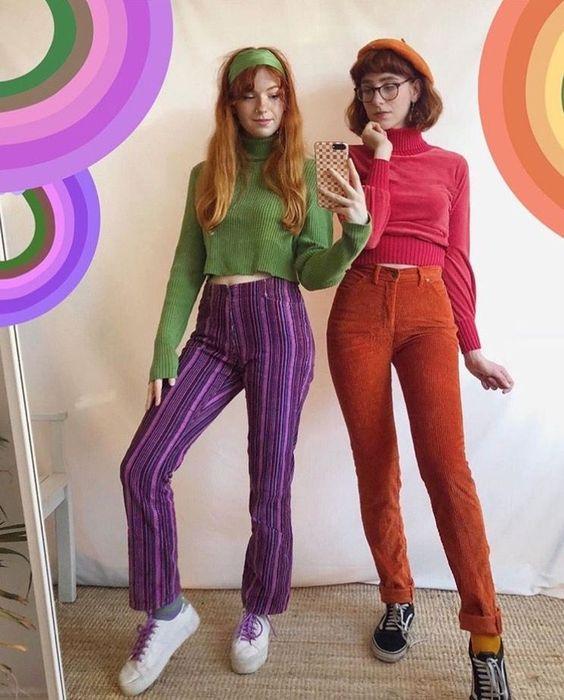 Cute Velma and Daphne Halloween costumes